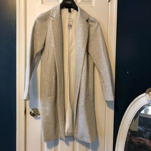 Sweatshirt material longline jacket
